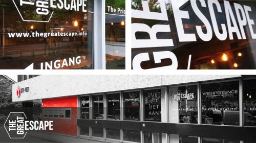 belettering voor the great escape zwolle